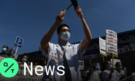 French Medical Workers Protests Lack of Government Support