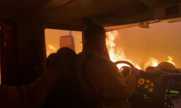 Crew battling Tamarack Fire makes narrow escape out of flames
