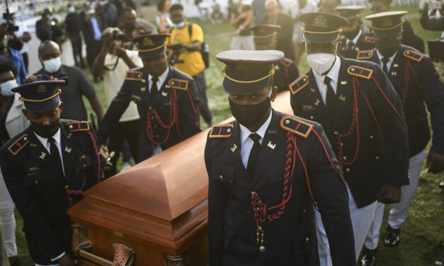 Protests Erupt Outside Haitian President's Hometown Funeral