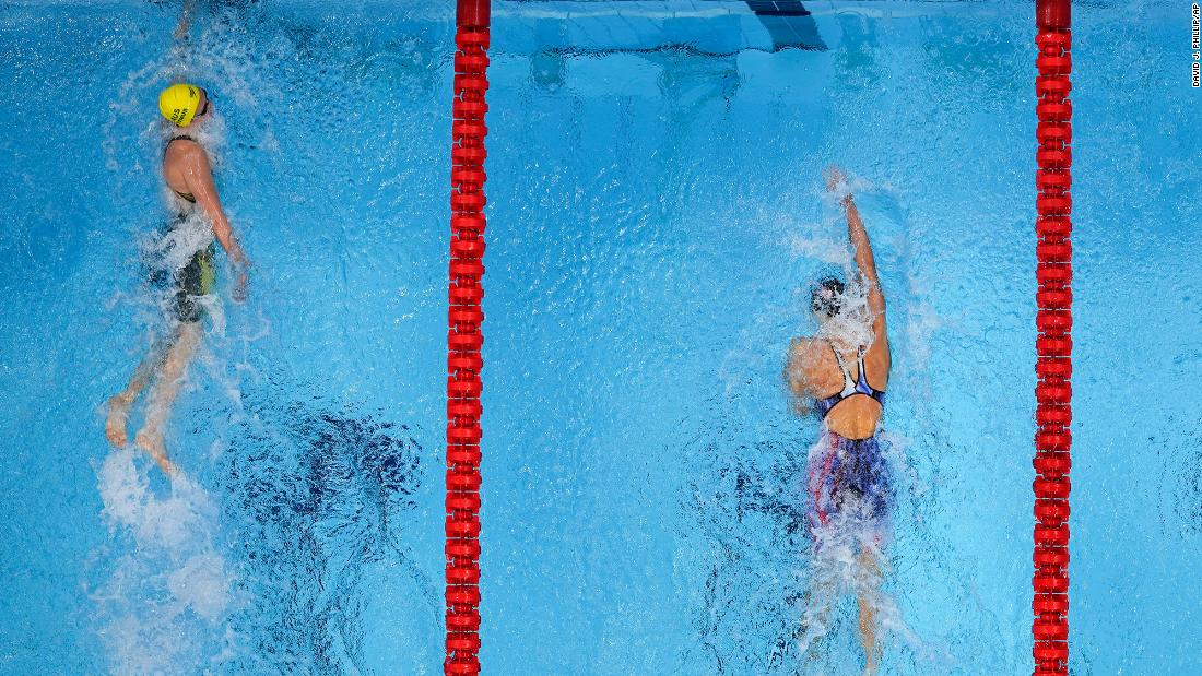 'Yeah, whatever,' says Australian swimmer after beating US star Katie Ledecky